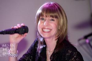 Photo Courtesy Of Susan Beard Design. Award Winning Bandleader Janis Nowlan. Party With The Best Philadelphia Wedding Band!